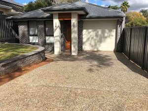 Exposed aggregate at house - Adelaide Exposed Concrete
